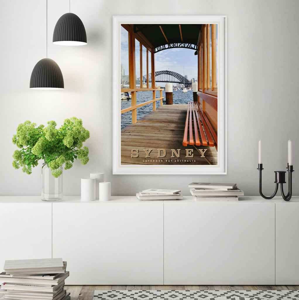 Sydney Lavender Bay vintage style travel print by places we luv