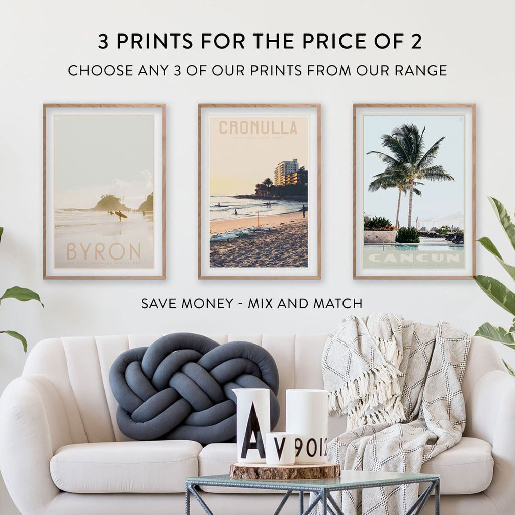 Places We Luv - 3 travel style prints for the price of 2