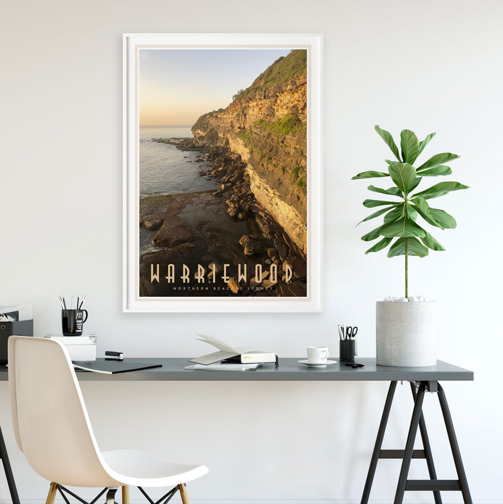 Warriewood vintage travel style poster by places we luv