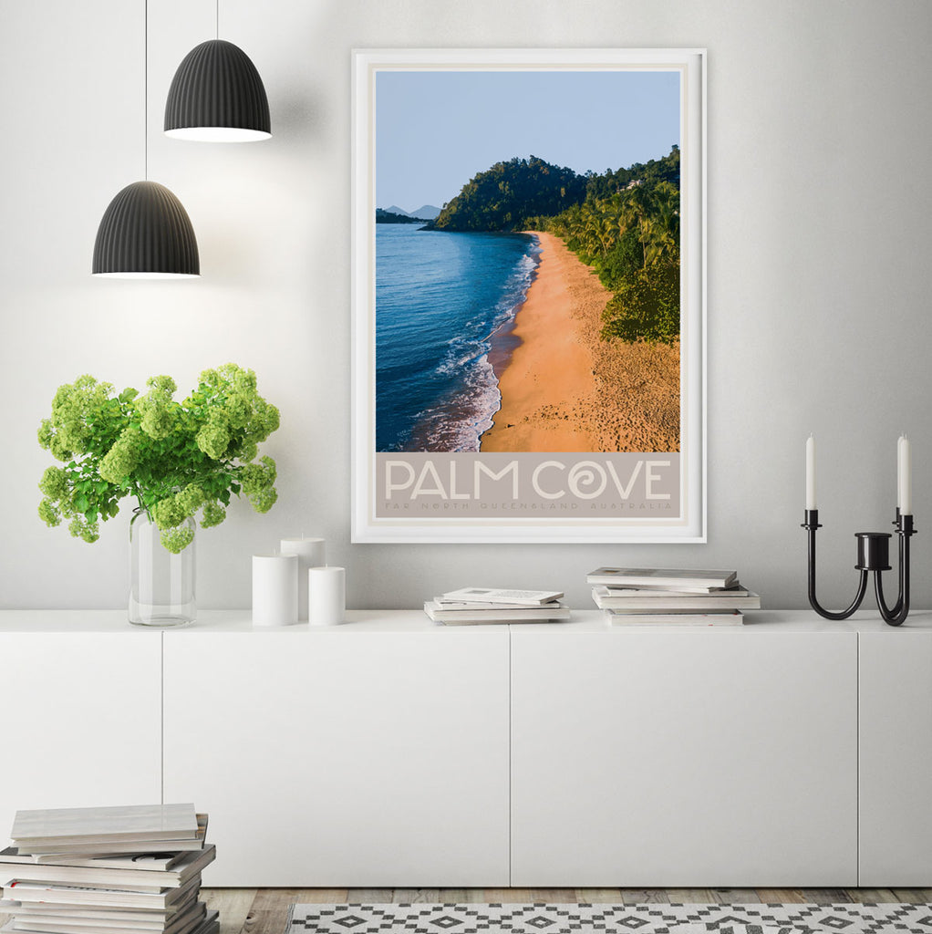Palm Cove QLD vintage travel poster by Places We Luv