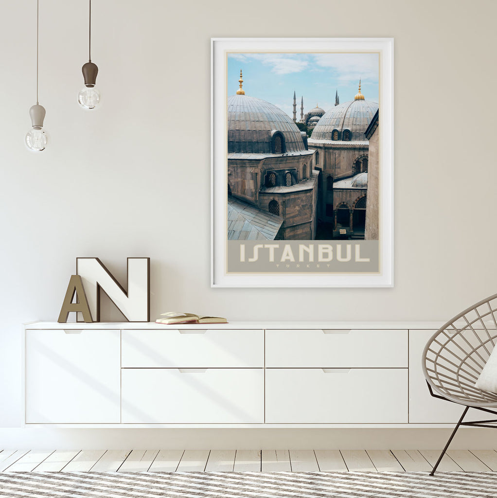 Istanbul vintage travel style poster by placesweluv
