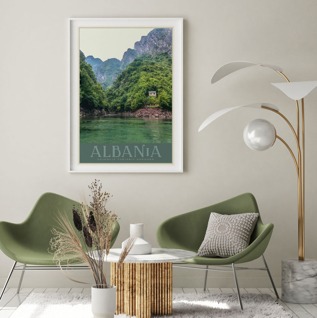 Albania vintage travel style print places we luv