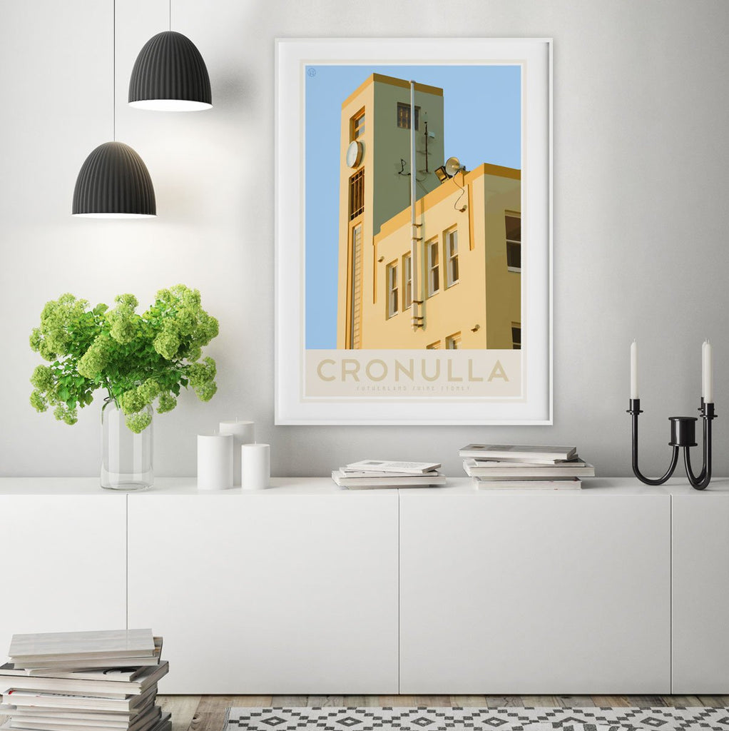Cronulla Beach vintage travel style print, designed by places we luv