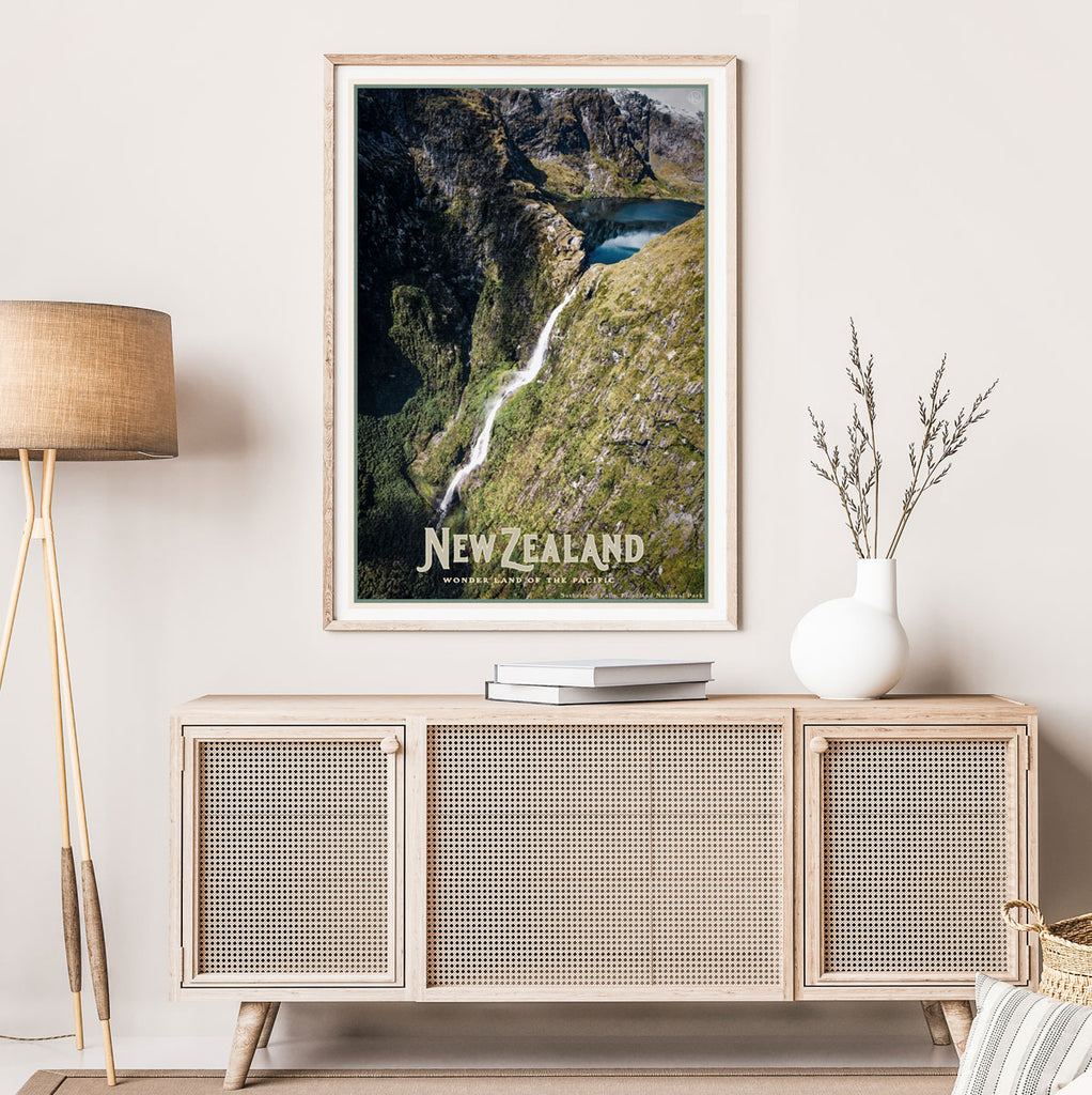 New Zealand vintage travel style print by places we luv
