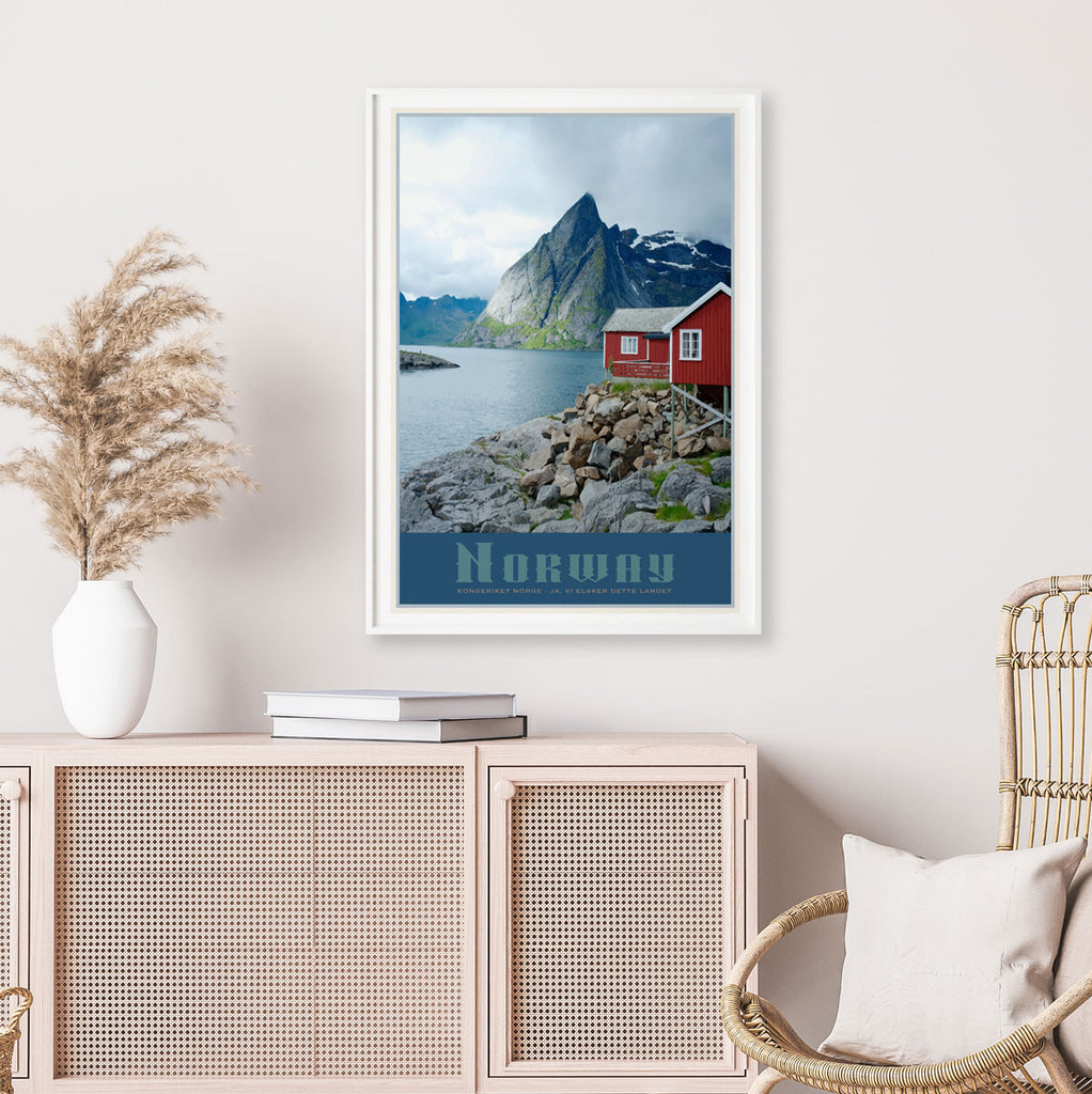 Norway vintage travel style print by placesweluv