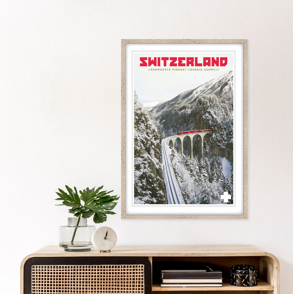 Switzerland vintage travel print by Places We Luv