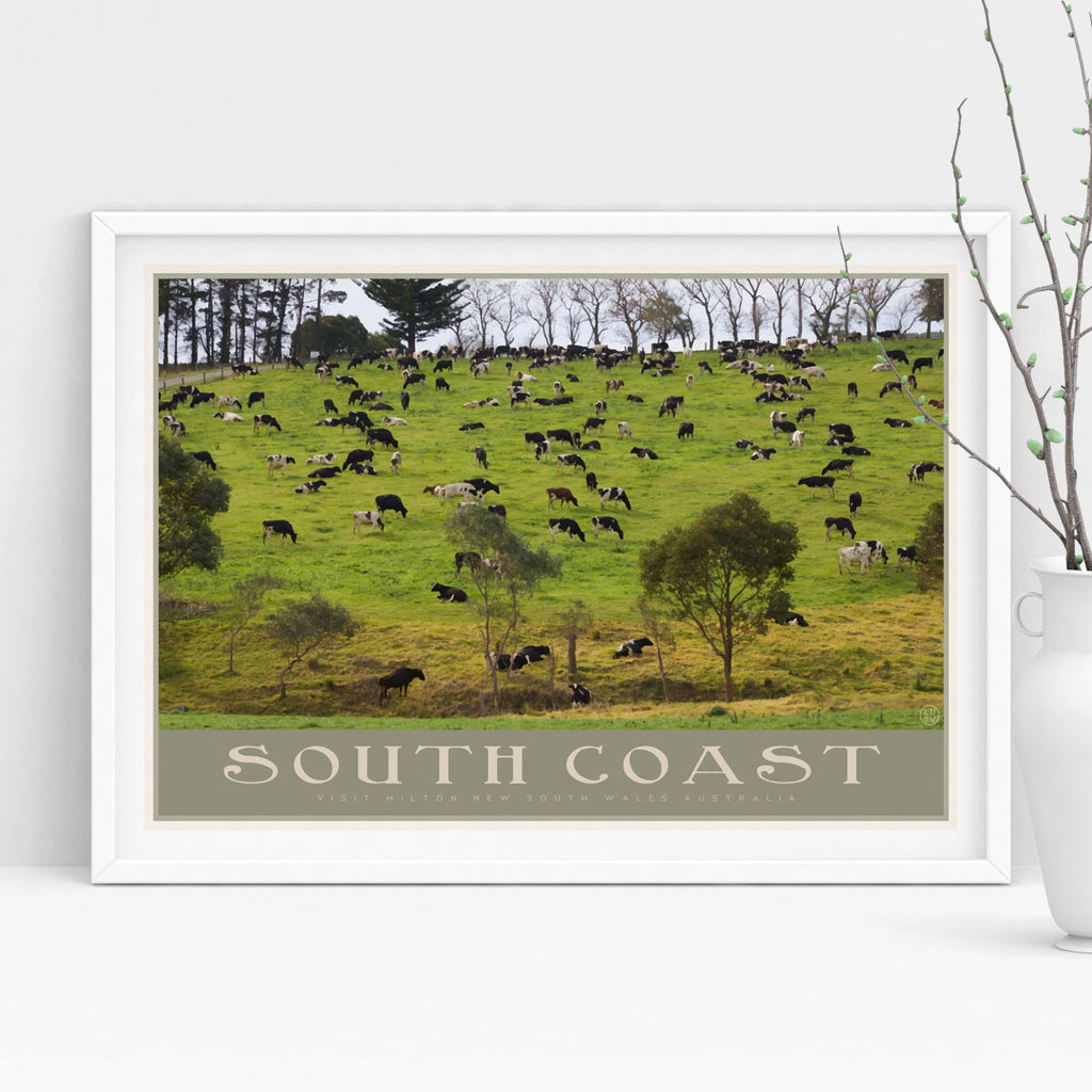 South Coast Diary vintage travel poster by places we luv