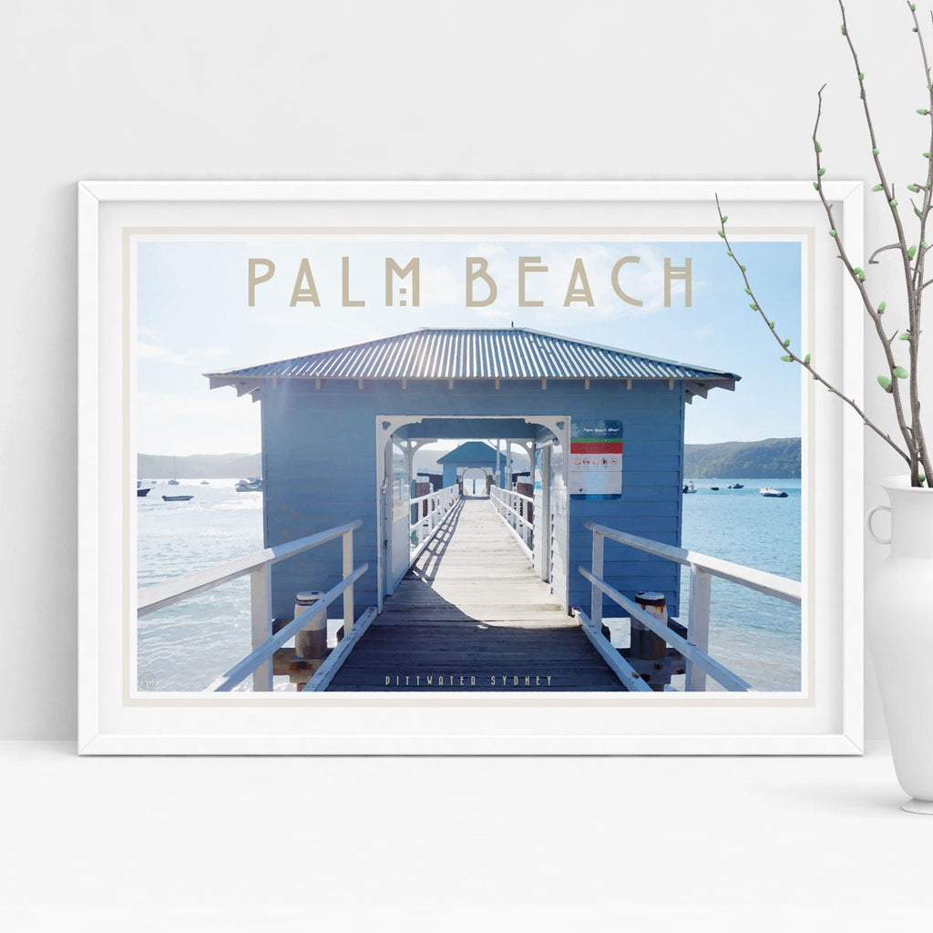 Palm Beach Ferry print. Vintage travel style by Places We Luv
