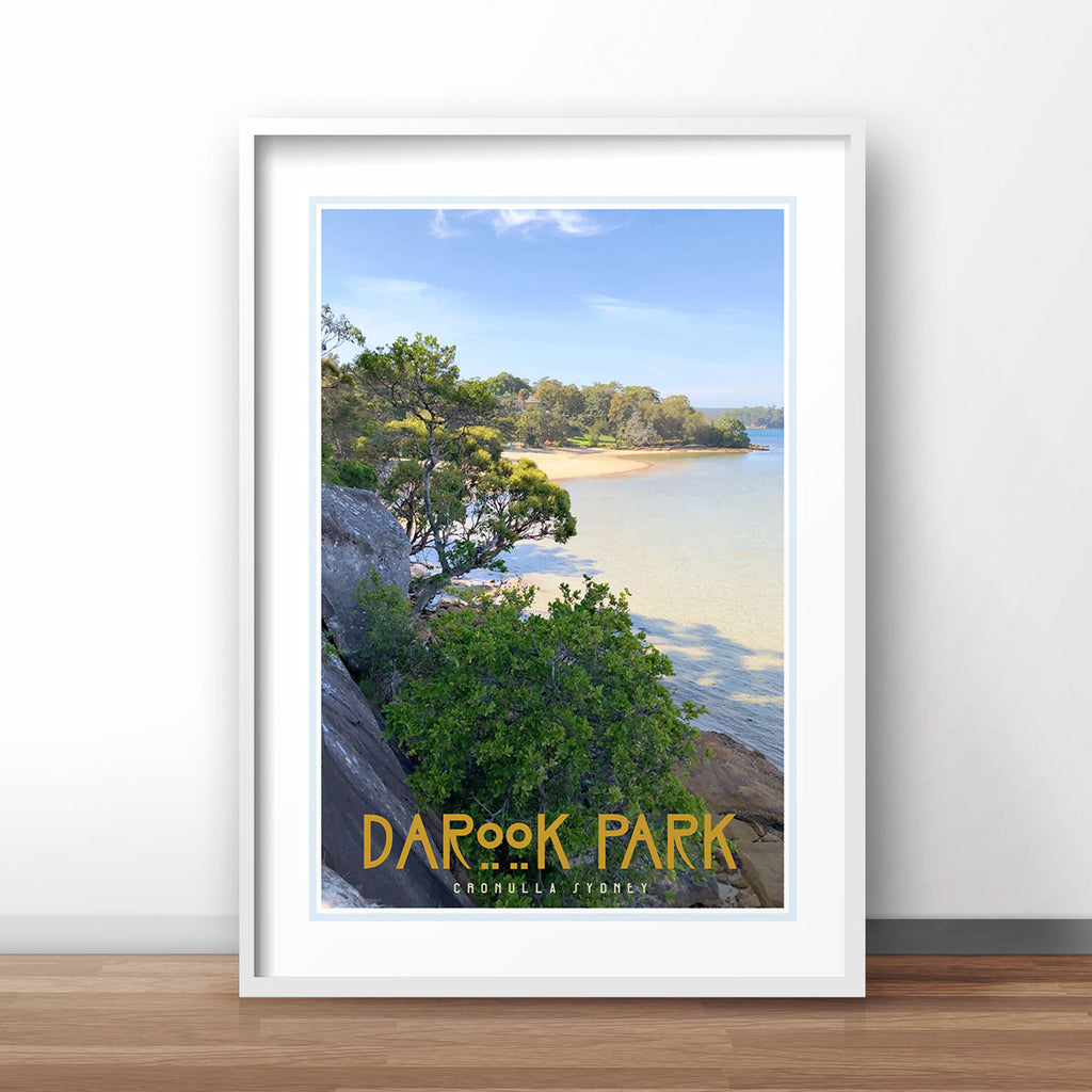 Cronulla Darook Park white framed print travel style by places we luv
