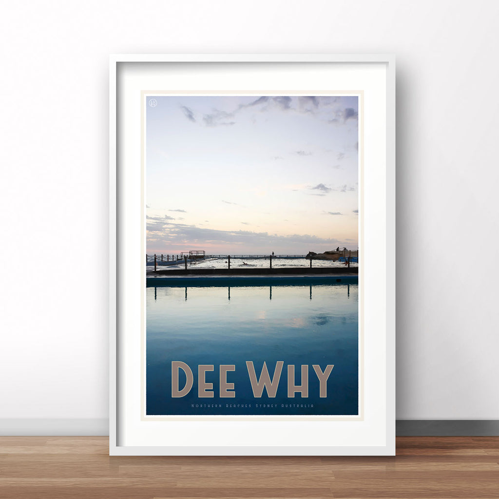 Dee Why Print poster vintage travel style by places we luv