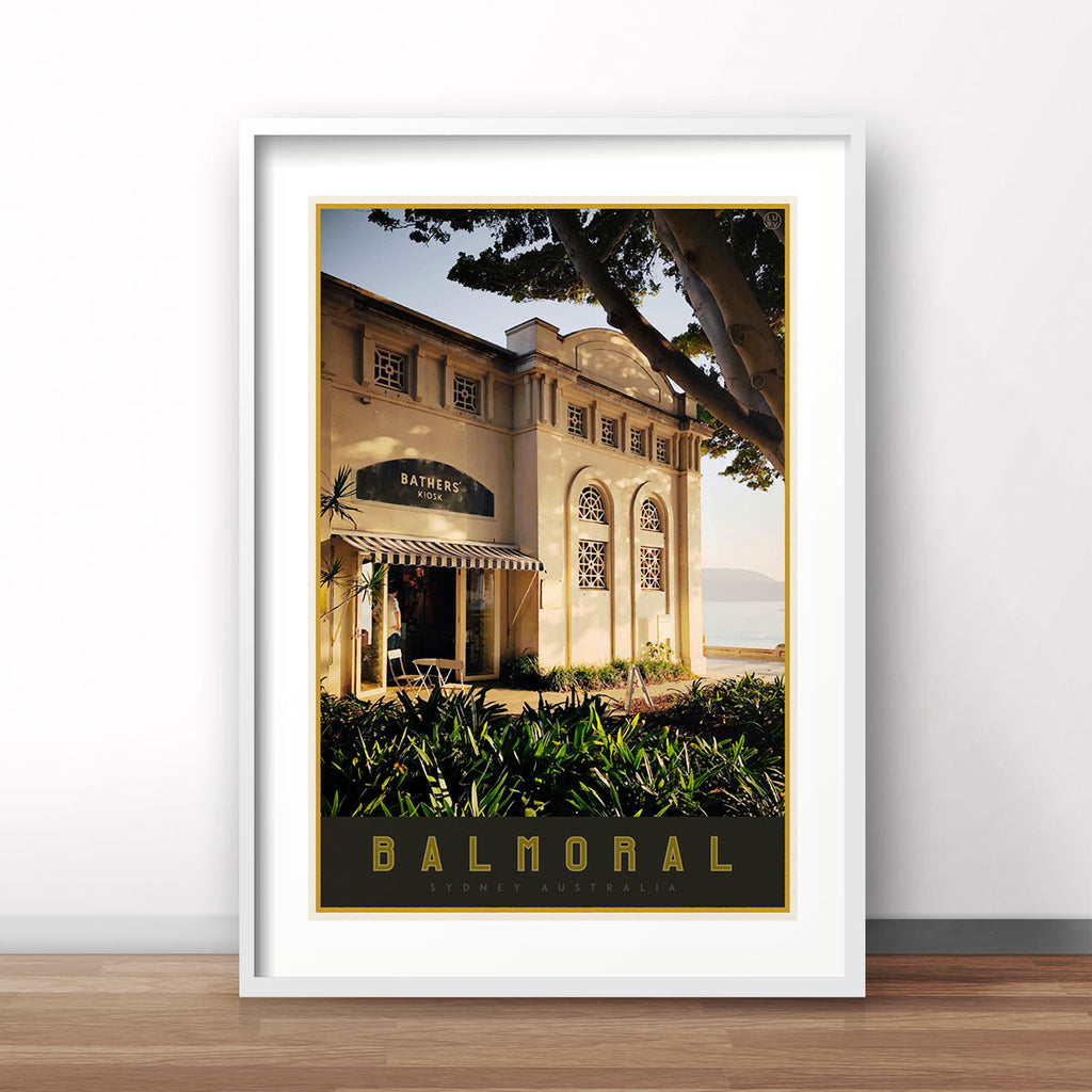 Balmoral print - vintage travel style poster by places we luv