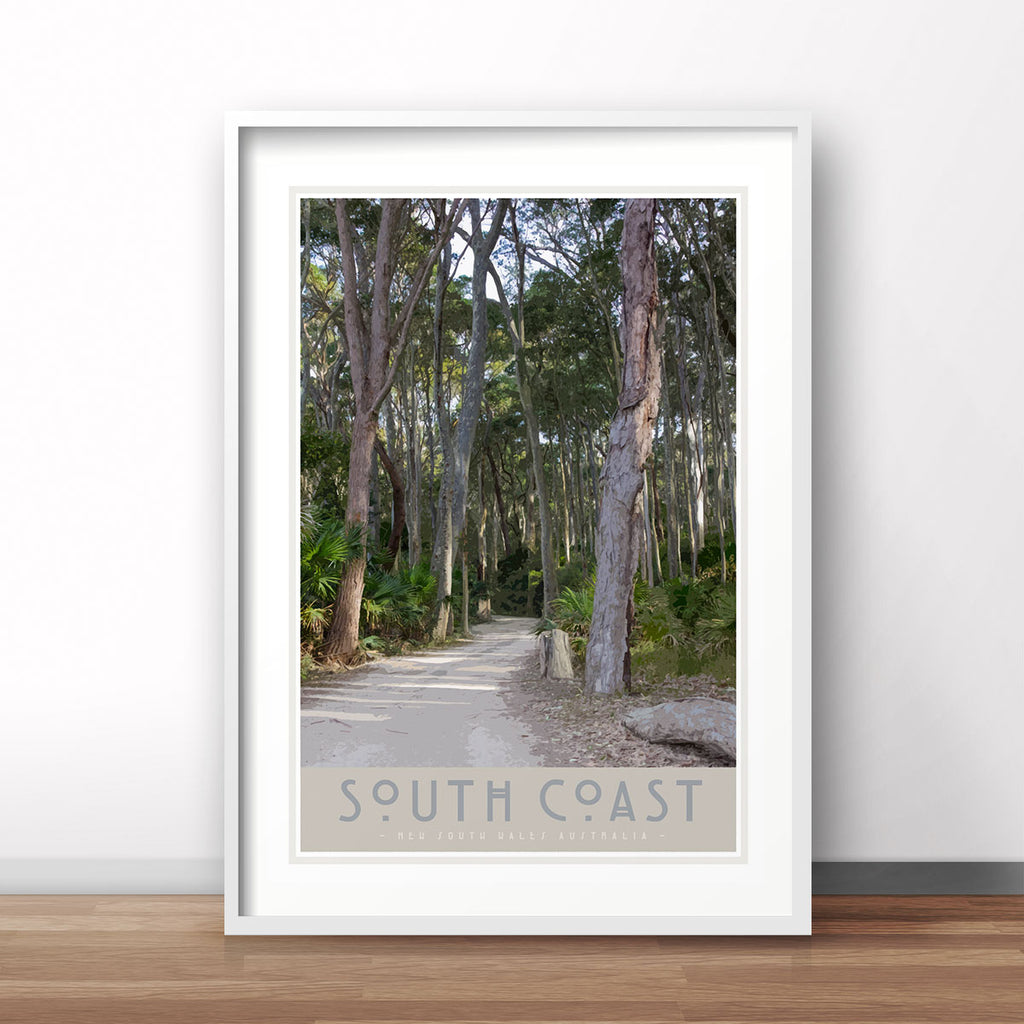 South Coast #2 print and framed poster. Original design by places we luv