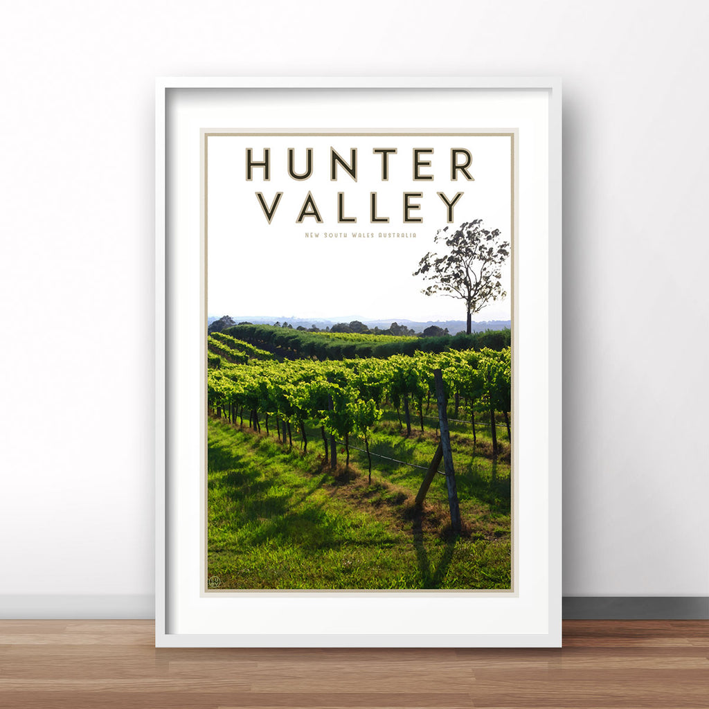 The Hunter Valley travel style poster - by places we luv