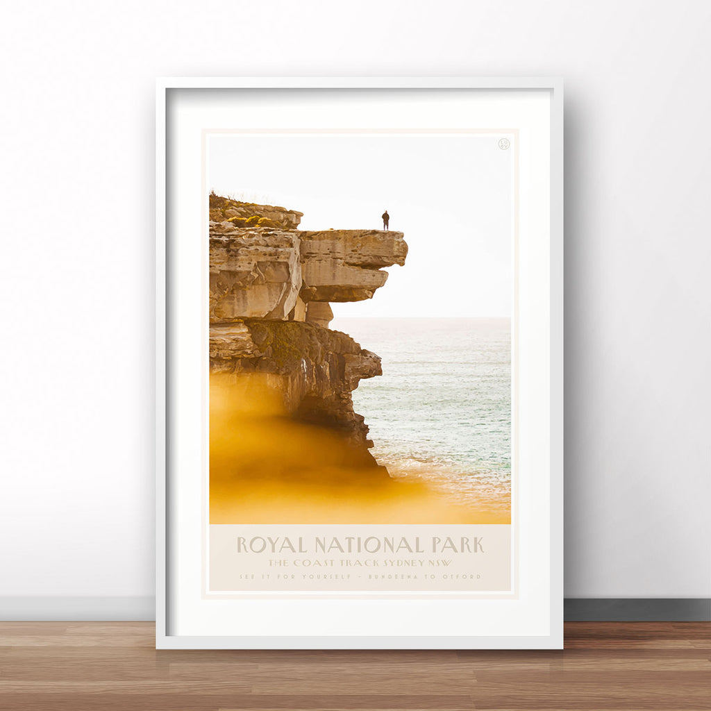 Royal National Park vintage travel style framed print places we luv