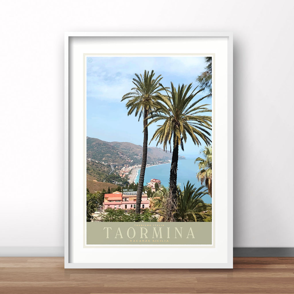 Taromina Sicily vintage travel poster - Places We Luv