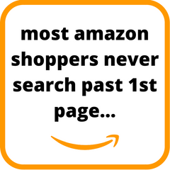 Amazon shoppers never search past first page