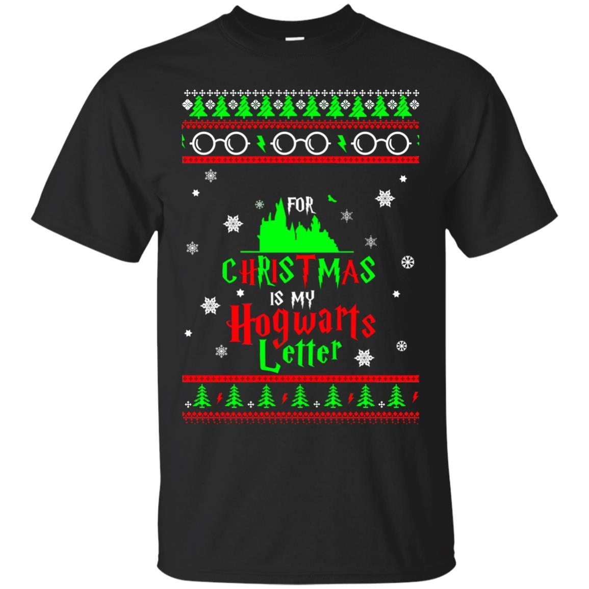 harry potter all i want is my hogwarts letter ugly christmas sweater t shirts hoodie - Harry Potter Ugly Christmas Sweater