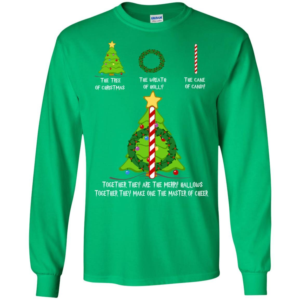 harry potter the tree of christmas the wreath of holly the cane of candy sweater t shirts hoodie
