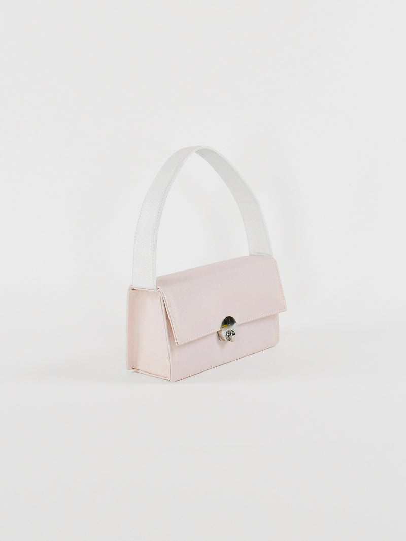 Mini Box Baguette, Metallic Light Pink