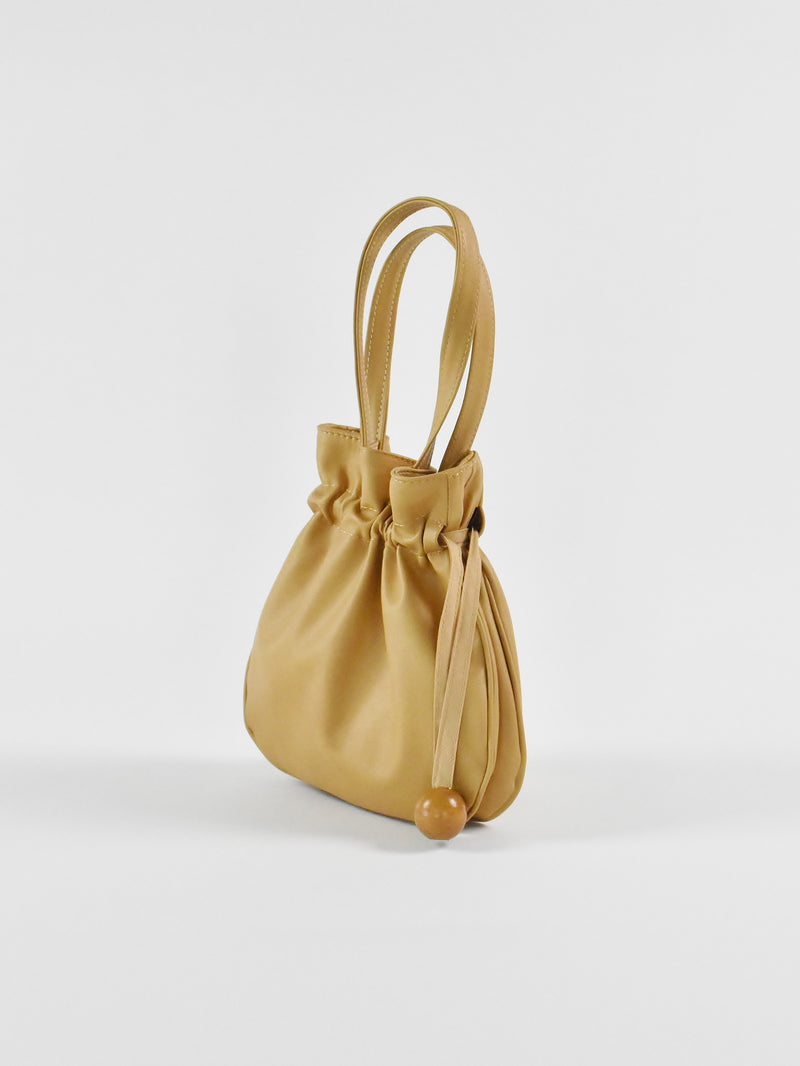 Anna Drawstring Purse, Tan