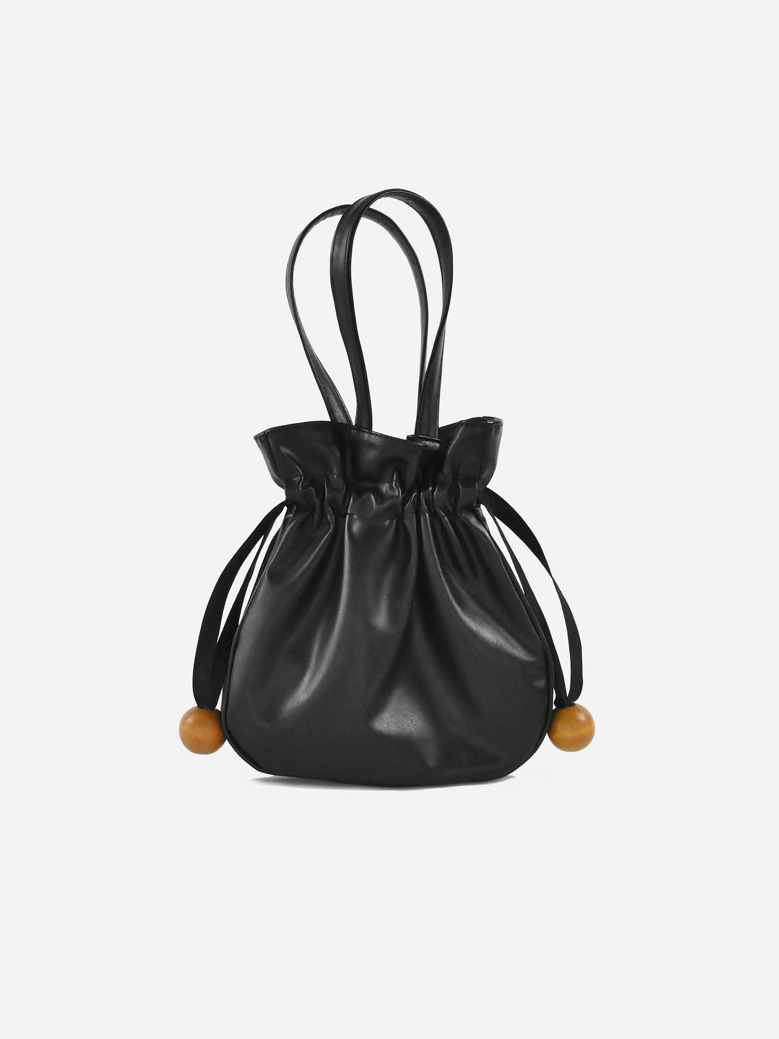 Anna Drawstring Purse, Black