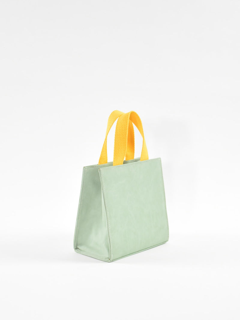 Mini Square Bag, Cotton Handles