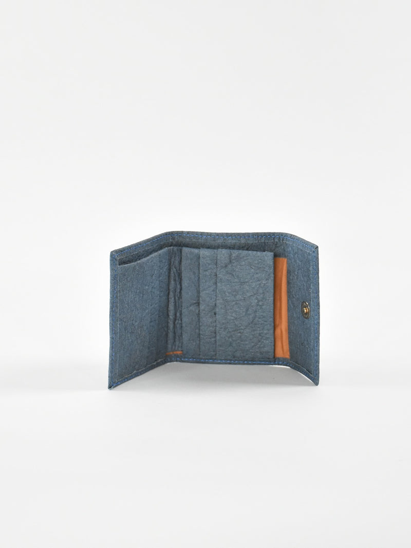 Piñatex Small Wallet, Indigo