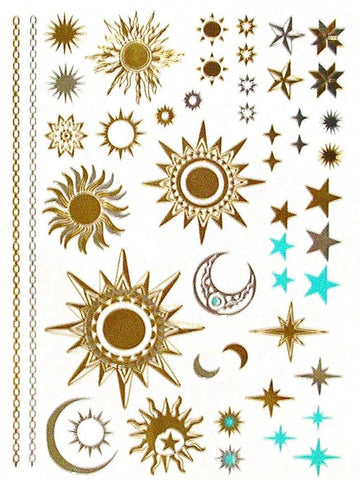 Sun Moon Stars Tattoos