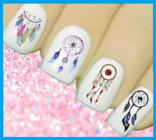 Dreamcatcher Nail Stickers Decals Colorful Dream Catchers And Feathers Easy To Apply Just Stick On!
