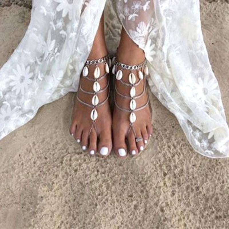 Cowrie Shell Barefoot Sandals
