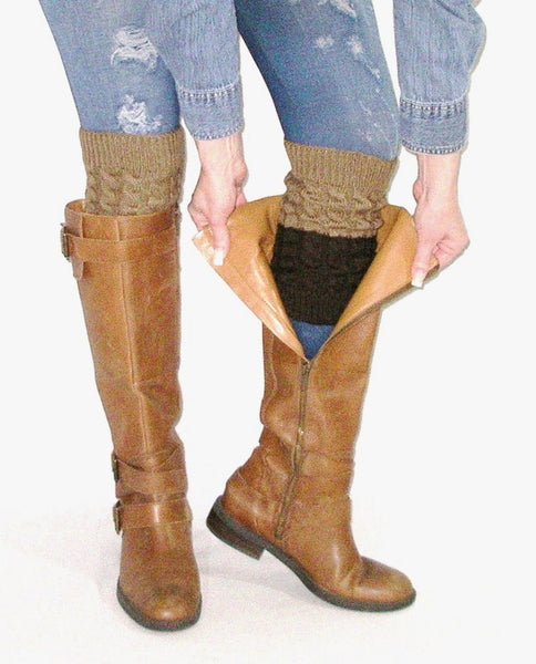Two Tone Brown Boot Cuffs