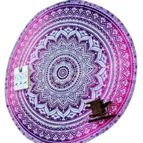 Pink Mandala Beach Throw
