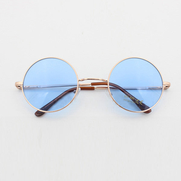 Round Blue Sunglasses