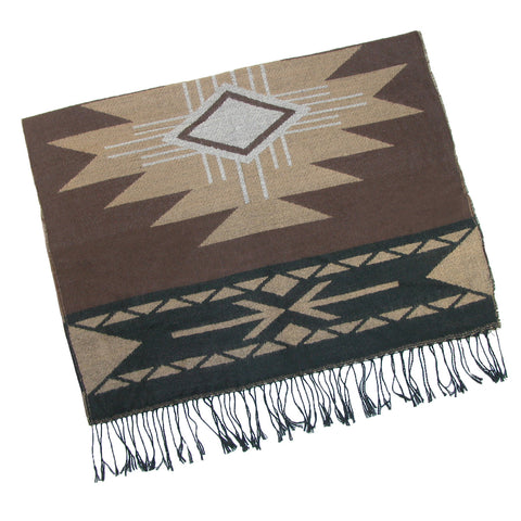 Brown Aztec Scarf