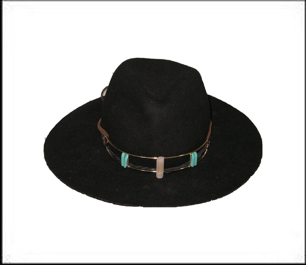 Black Crystal Hat