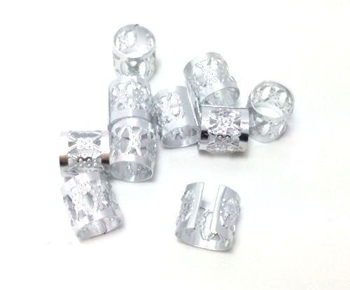 Silver Dreadlock Beads