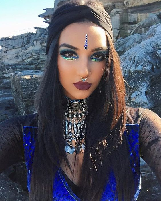 Bindi Face Jewels Stick On Festival Goddess Rave Bling Facial Jewelry 5 Styles You Pick