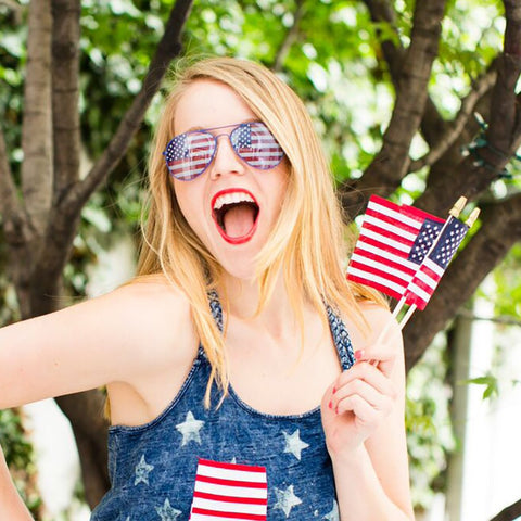 USA Flag Aviator Sunglasses American Black Silver Or Gold Frames Available Vintage Hippy Sunnies Red White Blue United States Stars Stripes