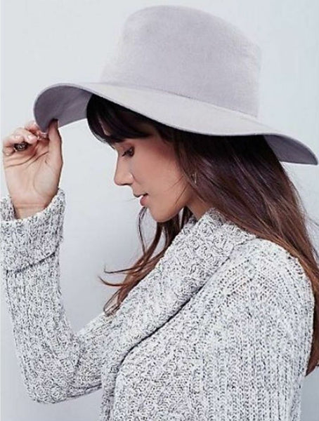 Free People Gray Fedora