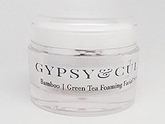 Gypsy & Cult Organic Bamboo & Green Tea Foaming Facial Scrub 1.7 Oz.  100% Natural