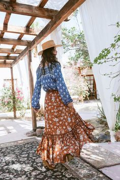 Brown Boho Skirt