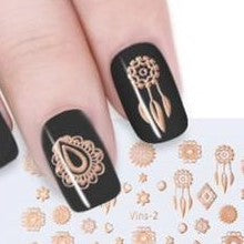 Gold Nail Stickers