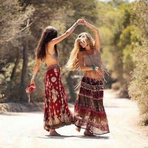 Long Gypsy Skirt Size Small Burgundy Olive Bohemian Print Crinkly Vintage Boho Broom Skirt Gipsy Gypset Free Spirited People