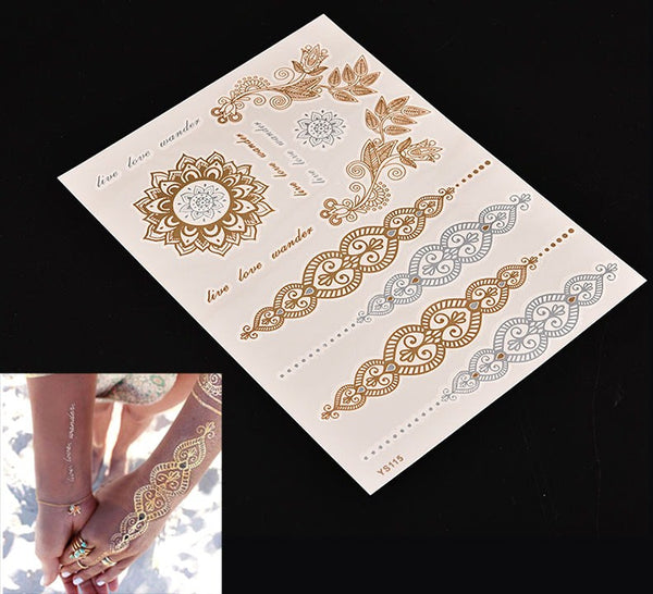 Metallic Tattoos