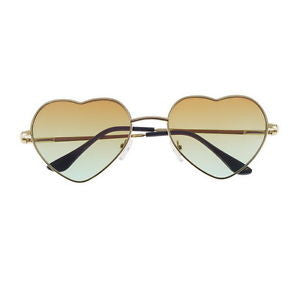 Brown Heart Shaped Sunglasses