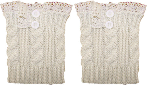 Lace Button Boot Cuffs