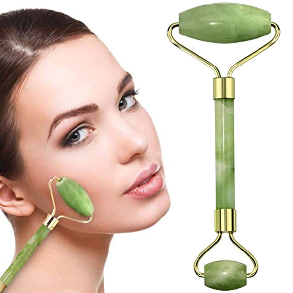 Jade Roller Beauty Tool Facial Massage Eliminate Stress Detoxify Face Massager Promotes Circulation