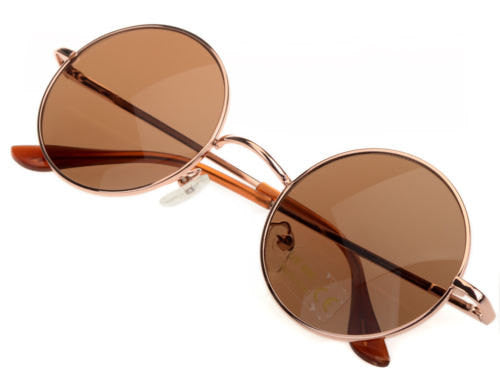 Round Brown Sunglasses