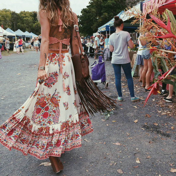 Plus Size Boho Skirt