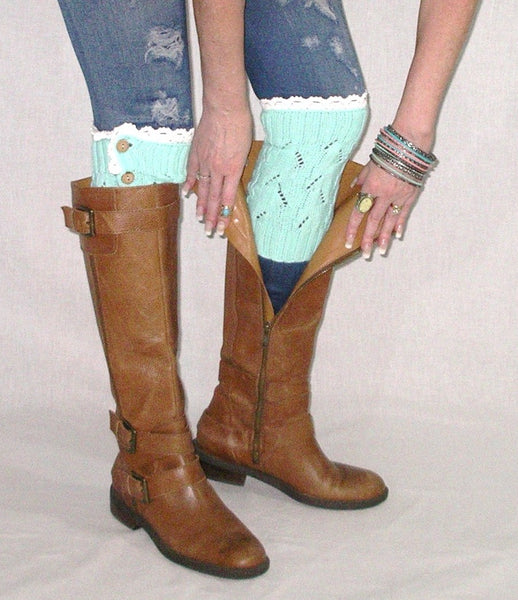Mint Boot Cuffs